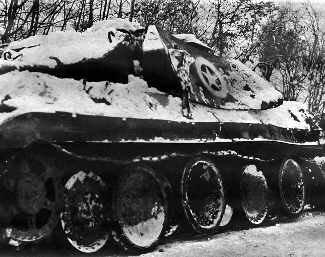 German Tank Disguised As American During Battle of the Bulge